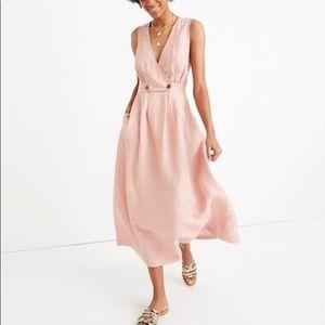 Madewell linen blend dress